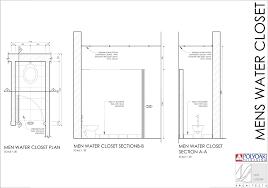 ion area standard room sizes men water closet
