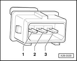 audi workshop manuals > a4 mk1 > power unit > simos injection and unplug knock sensor connector in engine compartment
