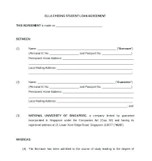 Family Loan Template Loan Agreement Template Loan Contract Form With Sample Peoplewho Us