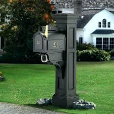 Double Mailbox Post Ideas Double Mailbox Post Design Full Image For
