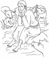Prodigal Son Coloring Pages 92 Free