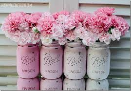 painted-mason-jar-distressed-pink