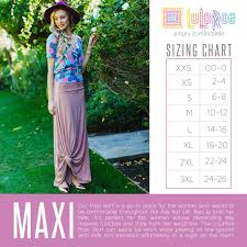 Size Chart Lularoe Maxi Lularoe Maxi Skirt Size Chart See Our Current Collection