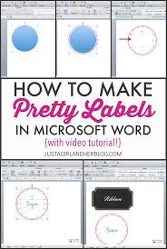 Video How To Make Pretty Labels In Microsoft Word How To