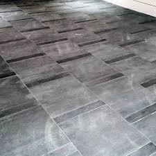 modern grey stone tile garage flooring ideas