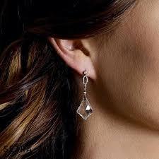designer topaz diamond chandelier earrings