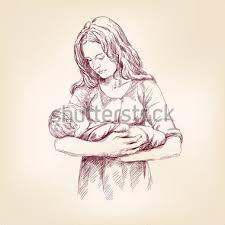 Pictures Of Mother Holding Child Sketch Kidskunst Info