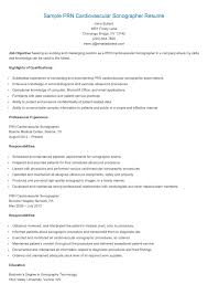 Gallery Of Ultrasound Tech Resume Examples