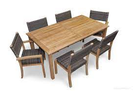 teak patio dining set for 6 teak and