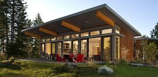 ... Home Decor, Modern Prefab Home Modern Prefab Homes Under 100k A Set Of  Red Chair ...