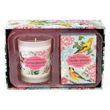 Michel Design Works Soap Australia Garden Melody Candle Soap Gift Set