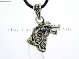 natural gemstones claw paw tibetan silver carved wolf