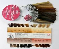 Color Charm Hair Color Chart Wella Color Charm Professional Color Chart Swatch Samples Ring Tags Numbered Ebay