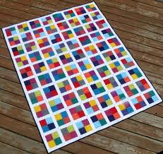 Four Square Free Quilting Pattern | FaveQuilts.com & Four Square Free Quilting Pattern.