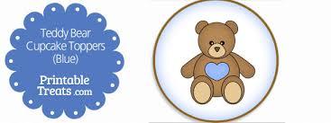 Printable Teddy Bear Cupcake Toppers Printable Treatscom