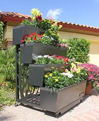 Plants For Kitchen Garden Garden Lovely Adjustable Gray Sink 4 Tier Resin Plant Flower Pots