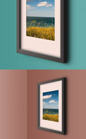 wall photo frame mockup template by graphicsfuel