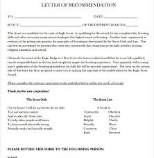 eagle scout letter of recommendation form eagle scout recommendation letter template sample eagle scout