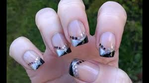 Elegant French Manicure Designs Easy Nail Art Designs For Holidays Elegant Party New Years Eve Chevron French Manicure Design