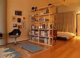 Bookcase Room Dividers: Two Functions in one Furniture  Open bookshelf  room divider in bedroom