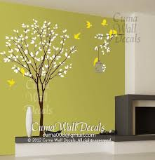 vinyl wall decals tree wall decals and birds wall decal nursery wall art sticker on vinyl wall art decals trees with vinyl wall decals tree wall decals and by cuma wall decals on zibbet
