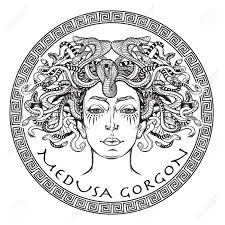 Medusa Gorgon Ancient Cr Ature Mythologique Grecque Avec Le