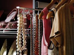 chic master closet with tie rack