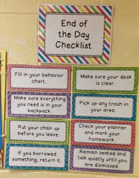 Fourth Grade Behavior Chart End Of The Day Checklist By Fit To Be Fourth Fourth Grade