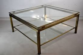 glass two tier coffee table