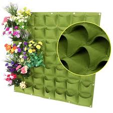 black green 49 pockets vertical vegetable garden wall hanging planter growing bags plants container grow