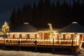 cool lighting pictures. Winter Yurts With Cool Lighting Pictures