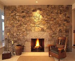 Indoor Stone Fireplace ...