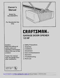 craftsman 1 2 hp garage door opener wiring diagram tryit how to install a craftsman garage