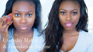 updated everyday makeup and foundation routine darker skin