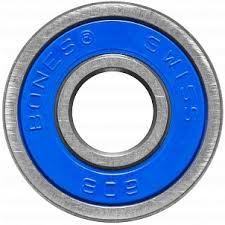 skateboard bearing. bones® super swiss 6 skateboard bearing 8mm single