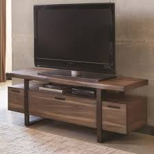 industrial tv console. Wonderful Console Atticus Hazelnut Low Profile Industrial TV Console B701055 To Tv G