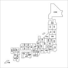 デザイン日本地図22白地図