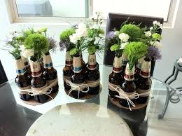 party centerpieces for men beer bottle centerpiece party for him house  furniture cheap