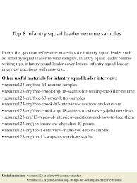 infantryman skills resume top 8 infantry squad leader resume samples 1  resume samples skills