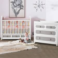 vanderbilt furniture. DwellStudio Vanderbilt 2 Piece Nursery Set - Convertible Crib And Dresser In French Gray Furniture