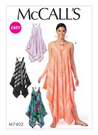 Patterns For Dresses Amazing McCall's 48 Misses' HandkerchiefHem Tent Dresses And Jumpsuit