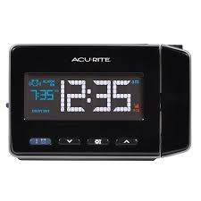 Amazon.com: AcuRite 13021 Atomic Projection Alarm Clock with USB Charging:  Home & Kitchen