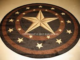 details about 5 round 5 3 texas lone star rustic cowboy western area rug free