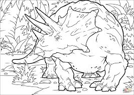 トリケラトプス ぬりえ