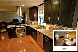 kitchen cabinet refacing before and after photos on 914x374