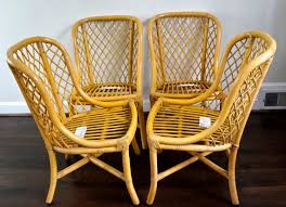 G Endearing Bamboo Rattan Chairs With