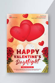 Valentines Flyers Happy Valentines Day Flyers With Hearts And Flowers