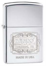 <b>Зажигалка Zippo Classic с</b> покрытием High Polish Chrome 29521 ...