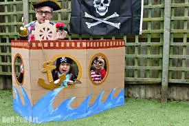 diy pirate ship cardboard craft