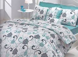 Teal And Grey Bedroom Modern Bedroom Interior With Teal White Grey Swirl Comforter Sets